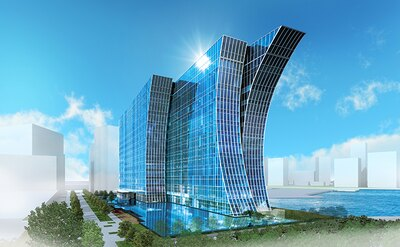 「横浜ベイコート倶楽部 ホテル&スパリゾート」の完成イメージ