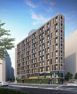 「ホテルリソル横浜桜木町」の完成イメージ