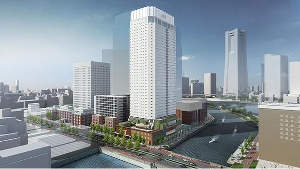 「アパホテル&リゾート〈横浜ベイタワー〉」の完成イメージ