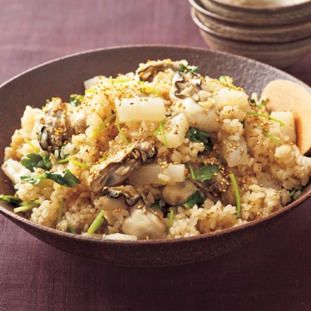 「牡蠣の炊き込みご飯」