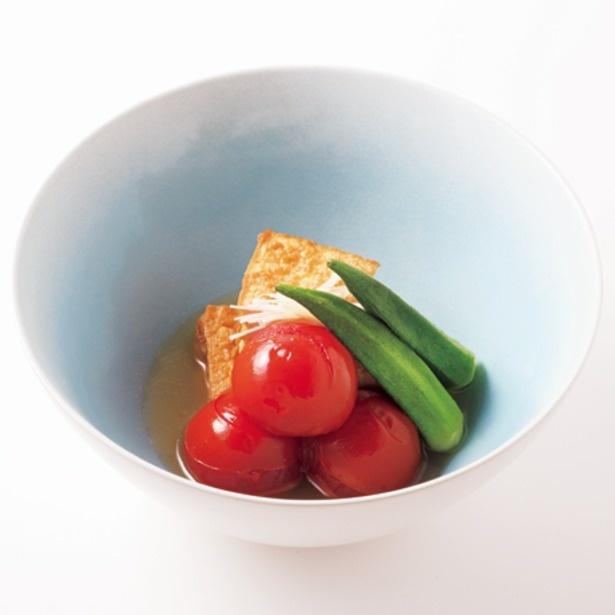 冷やしていただく新感覚な「トマトと厚揚げのシンプルおでん」