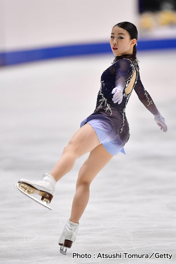 【写真を見る】紀平梨花選手が美しいトリプルアクセルを決められるのか?