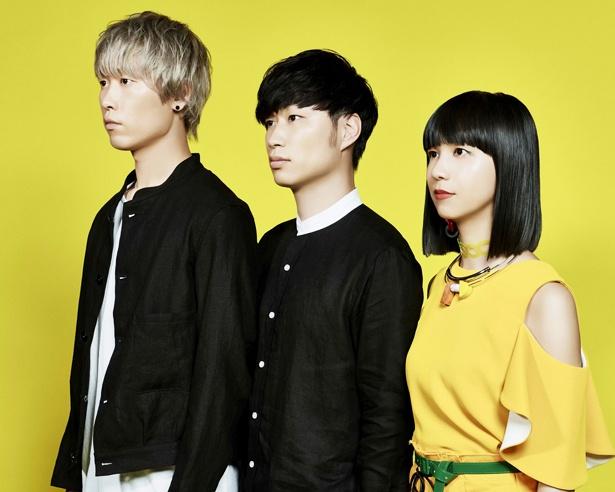クアイフのアーティスト写真。左から、三輪幸宏、内田旭彦、森彩乃