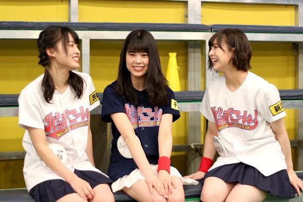 吉川七瀬は「みんなが一人一人個性を出して、一生懸命頑張って、ビッグな番組にしていきたい」と番組MCとして目標を語る