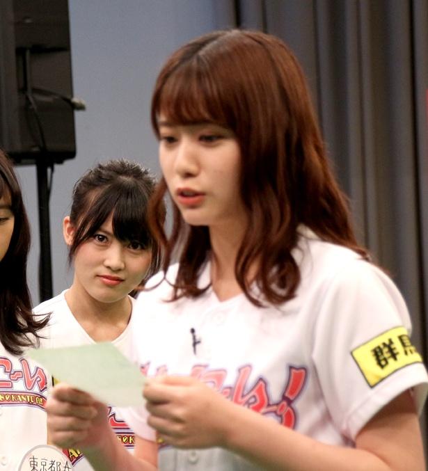 「メンバーそれぞれにキャラクター付けもされてきた」と語る岡部麟は、茨城をいじられると相手をにらみ、地元愛を見せつける