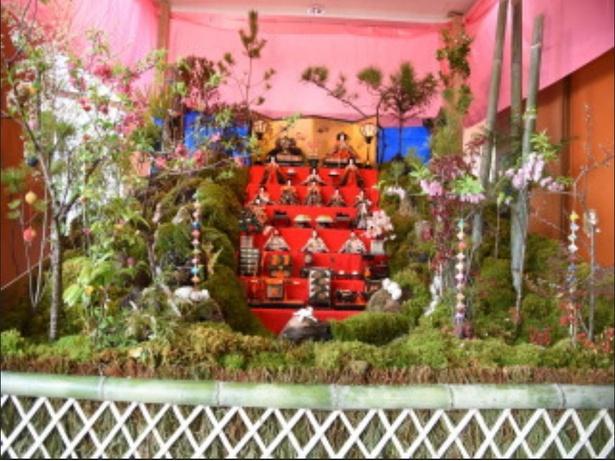 大淀川学習館に設置されたひな山(写真は2018年度のもの)