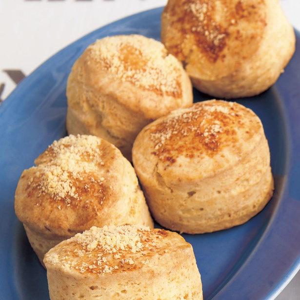 粉チーズを入れて、塩味スナック風に