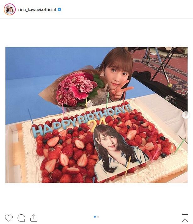【写真を見る】2月12日に24歳の誕生日を迎える川栄李奈