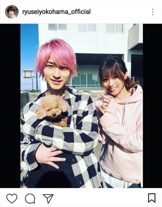 ※画像は横浜流星公式Instagram(ryuseiyokohama_official)のスクリーンショットです