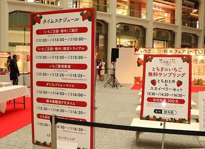 3月2日(土)には関西にて「いちご王国・栃木フェア in Osaka」を開催