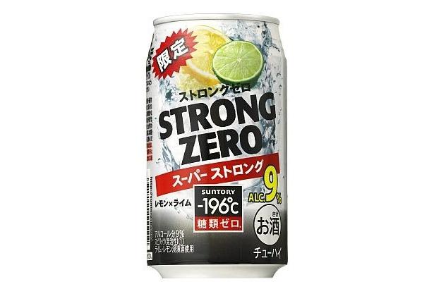 12/7に再発売となるアルコール度数9%の「-196℃ ストロングゼロ<スーパーストロング>」