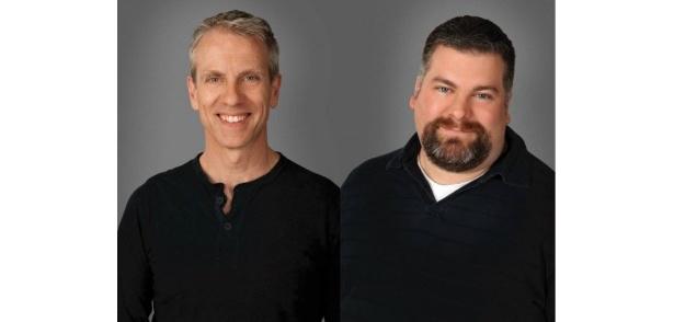 続編でも監督を務める。左から、クリス・サンダース、ディーン・デュボア