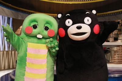 ガチャピンとくまモンが出演する特別番組「キャスターガチャピンが行く!ガチャピン くまモンすごかヘッドライン」