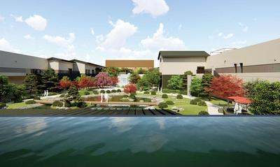 四季の風景が美しい約1000坪の日本庭園を眺めながら、ゆっくりと温泉を満喫できる/空庭温泉 OSAKA BAY TOWER