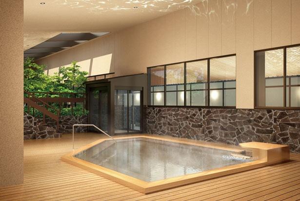 炭酸風呂では、皮膚から吸収される炭酸ガスが血流をどんどん促進し、新陳代謝の活性が期待できる/空庭温泉 OSAKA BAY TOWER