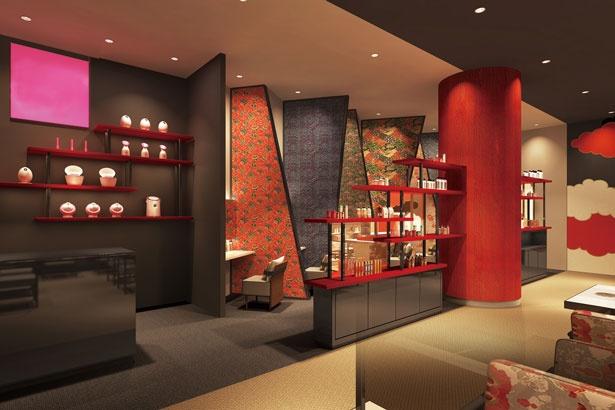 広々とした女性用のパウダールームで、ゆっくりヘア&スキンケアを/空庭温泉 OSAKA BAY TOWER