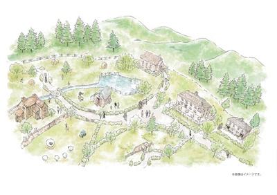 全体のイメージ。エリアの敷地面積は5000㎡で、フォトスポットが多数。1年を通して遊べる