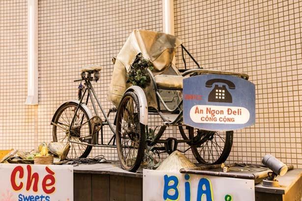 自転車タクシー・シクロを取り寄せてインテリアに/ベトナム酒場 ビアホイ