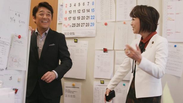 坂上忍、三原じゅん子議員インタビューで議員会館に初潜入!