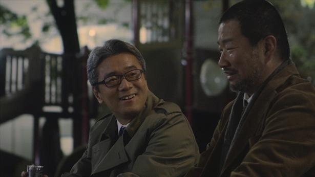 木村祐一と尾美としのりは同世代。撮影は和やかに進んだ