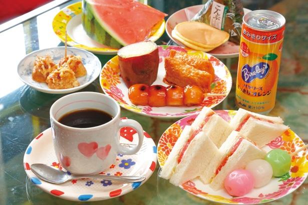 一日中やっているモーニングは500円~。 サンドイッチをはじめ気分で替わる約10品!/「パブレスト 百万ドル」