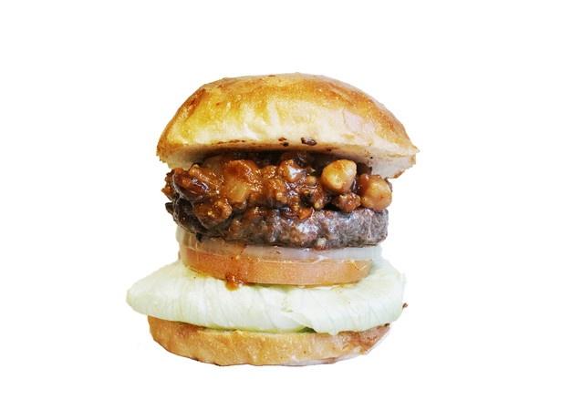 「tocoro burger」の「チリビーンズバーガー」(1100円)