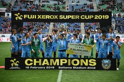 昨シーズン王者の川崎フロンターレ。FUJI XEROX SUPER CUP 2019も見事に優勝