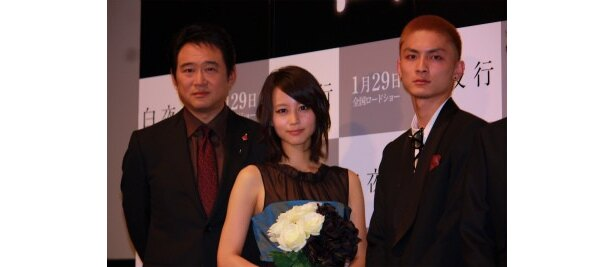 『白夜行』の舞台挨拶で、堀北真希、高良健吾、船越英一郎が熱い思いを語った
