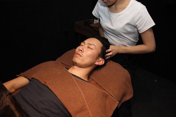 施術も睡眠に特化した無水ヘッドスパ