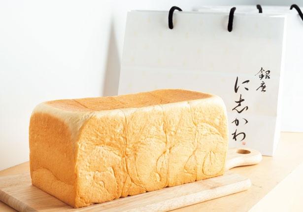 銀座で超人気の食パン(1本2斤サイズ・864円)/銀座に志かわ 船場本町店