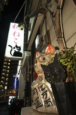 阪東橋駅近くの飲み屋街の一角にあるスナック「桃ねこ」
