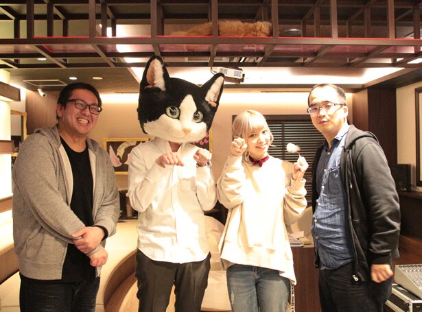 """アニメ「同居人はひざ、時々、頭のうえ。」イベント """"猫と一緒の上映会""""が開催された"""