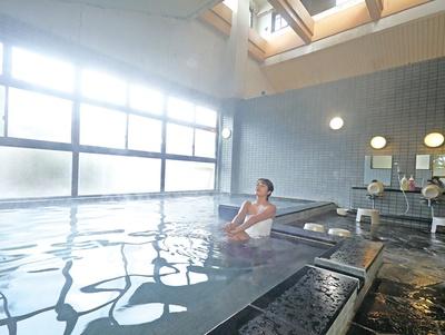 豊前温泉 天狗の湯 / 大浴場は男女日替りで、内湯には水風呂とサウナもある