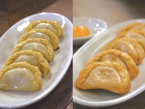 「肉汁台湾餃子(赤)・肉汁餃子(白)」 / でら餃子(愛知県)