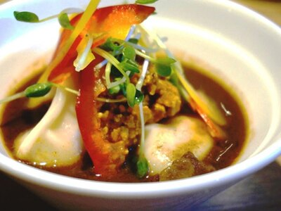 「特製スープカレー餃子」 / 柳橋市場-名古屋カレー食堂アンツ(愛知県)