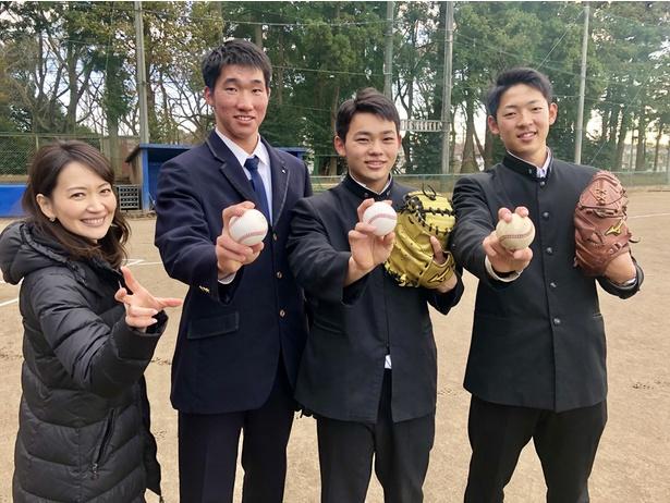 古谷拓郎選手、田宮裕涼選手、清宮虎多朗選手ら千葉県出身の高卒ルーキーが「千葉からプロの舞台へ」で初対談