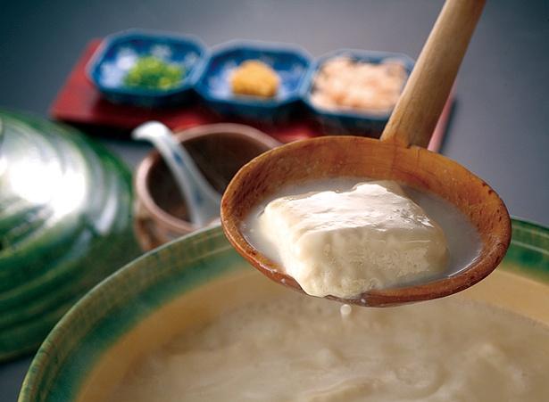 大正屋 椎葉山荘 しいばの湯 / 嬉野のうまいものをセルフスタイルで!嬉野名物・「温泉湯豆腐」
