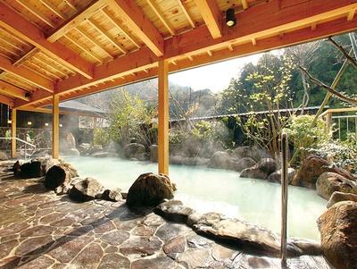 国民宿舎 青雲荘 / 小地獄から湧き出る乳白色の源泉かけ流し露天風呂