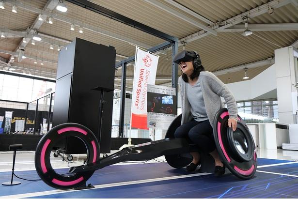 VRで車椅子陸上に挑戦!