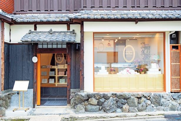 築120年の町家をリノベートした、和と洋が融合した店構え/Madame Delluc 京都祇園店