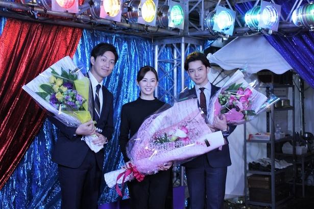 """大きな花束以上に""""華""""のある3人"""