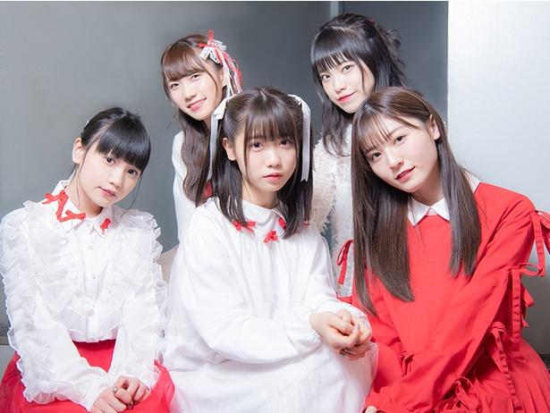 写真前列左から 大門果琳、来栖りん、吉井美優、後列左から 江嶋綾恵梨、森みはる