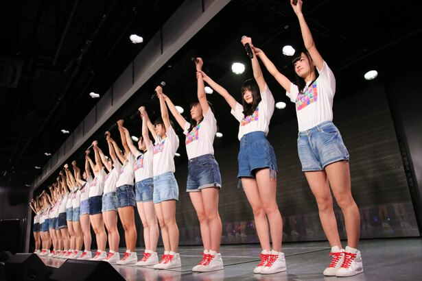 NGT48劇場でのNGT48研究生「『PARTYが始まるよ』~研究生の息吹を感じて!~」公演の様子(2)