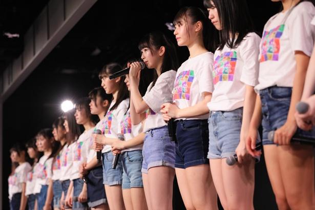 NGT48劇場でのNGT48研究生「『PARTYが始まるよ』~研究生の息吹を感じて!~」公演の様子(3)
