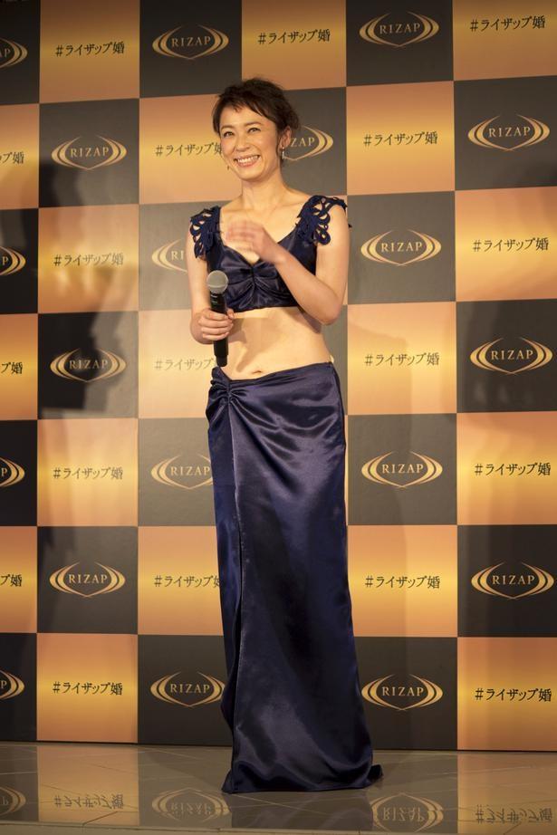 こちらは佐藤仁美のRIZAP成功後会見より/ザテレビジョン撮影