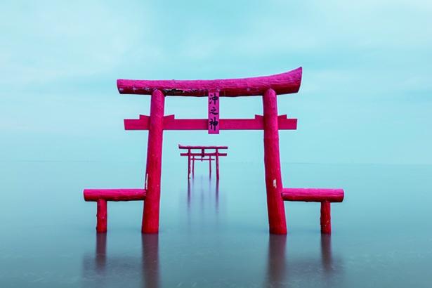 神秘的な景色が広がる「大魚神社の海中鳥居」