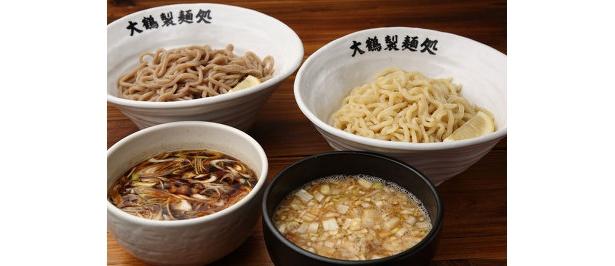 つけめんは750円。2種の麺とスープから1種ずつ選ぼう