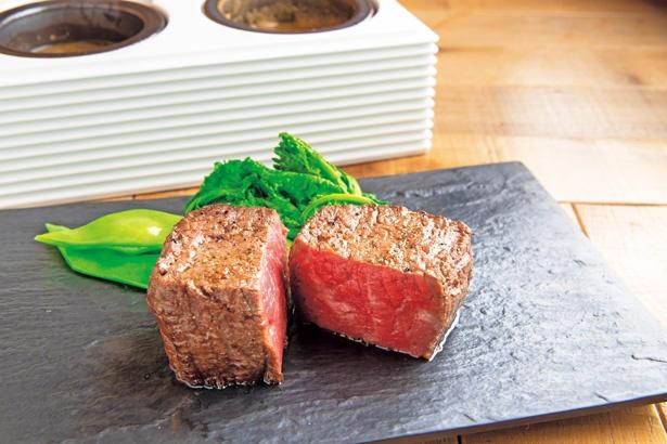 黒毛和牛赤身炭火焼Dステーキ200g(3564円)/D-Steak