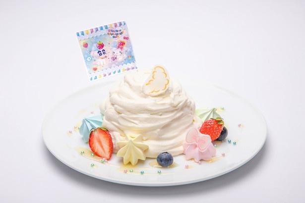 「ハローキティとシロのクリームたっぷり もふもふチーズスフレ」(1609円)