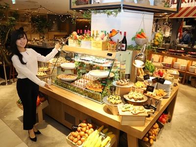 新業態のブッフェレストラン「ザブッフェ アンドマルシェ」